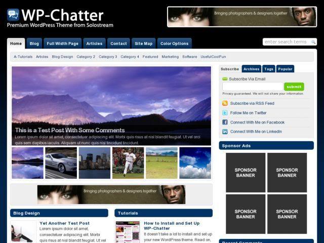 قالب WP-Chatter